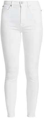 7 For All Mankind High-Rise Luxe Ankle Skinny Jeans