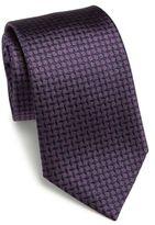 Armani Collezioni Tilt Grape Silk Tie