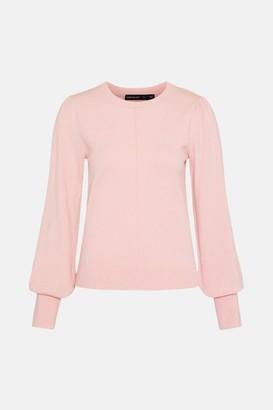 Karen Millen Puff Sleeve Knitted Jumper