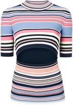 Sportmax striped cut-out sweater