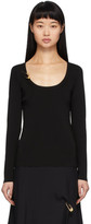 Versace Black Knit Safety Pin Pullover