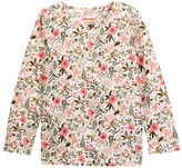 Joe Fresh Print Long Sleeve Tee (Toddler & Little Girls)