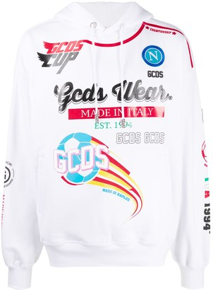 GCDS All-Over Graphic Print Hoodie