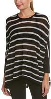 Blanc Noir Striped Drape Sweater.