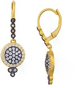 Freida Rothman Mini Pave Leverback Earrings