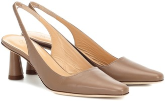 BY FAR Exclusive to Mytheresa a Diana leather slingback pumps