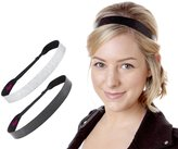 Hipsy Women's NON SLIP Wide Geo Sport Headband Multi 2pk