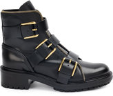 Balmain buckled boots - women - Leather/rubber - 35.5