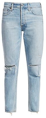 AGOLDE Jamie High-Rise Classic-Fit Ankle Distressed Jeans