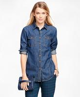 Brooks Brothers Cotton Denim Shirt