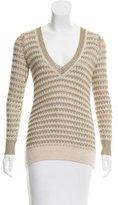 Rag & Bone Stripe Pattern Metallic Sweater