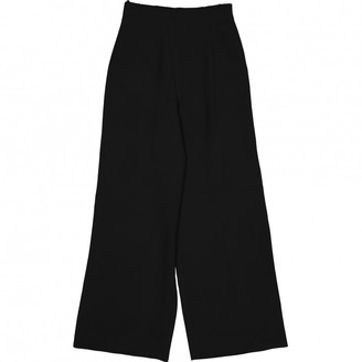Montana Black Silk Trousers