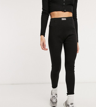 Loose Threads ribbed lounge leggings in black