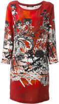Roberto Cavalli printed shift dress - women - Silk - 40