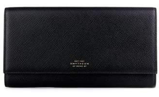 Smythson Marshall Leather Travel Wallet - Mens - Black