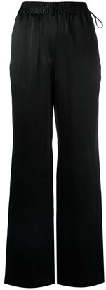 Acne Studios Wide-Leg Satin Trousers
