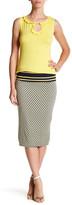 Max Studio Print Midi Skirt