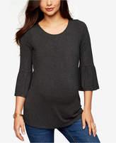 Daniel Rainn Maternity Bell-Sleeve Top