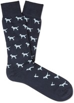 J.Mclaughlin Pima Cotton Sock Motif