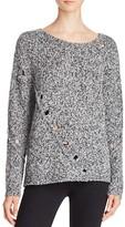 Aqua Grace Drop Stitch Crewneck Sweater