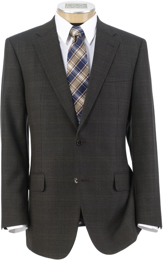 Jos. A. Bank Signature Tailored Fit Textured 2-Button Sportcoat Extended Size