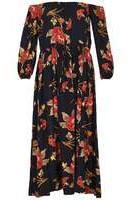 Dorothy Perkins Womens *Izabel London Navy Strapless Floral Print Maxi Dress- Navy