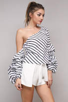Do & Be Stripe Ruffle Top