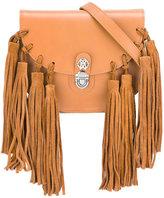 Roberto Cavalli fringed shoulder bag - kids - Leather/Suede - One Size