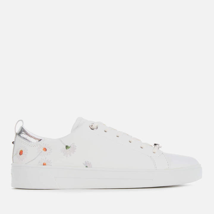 06ca076fa8fbb Women's Chalene Leather Low Top Trainers - White