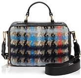 Milly Small Pied Poule Tweed Satchel