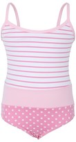 Melissa Odabash Pink Stripe and Polkadot Swimsuit