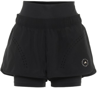 adidas by Stella McCartney TruePurpose double-layered shorts