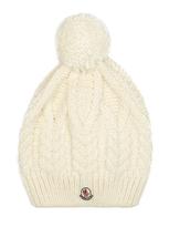 Moncler Pompom cable-knit hat