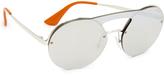 Prada Cinema Round Brow Bar Sunglasses