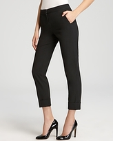VINCE CAMUTO Bailey's Skinny Cuffed Cropped Pants