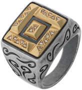 Marco Dal Maso Men's Ara Double-Rectangle Ring w/ Diamonds, Size 10