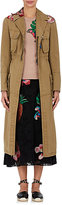 Valentino Women's Tropical Dream Embellished Cotton Trench Coat-GREEN