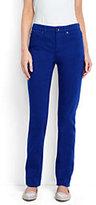 Lands' End Women's Petite Mid Rise Straight Leg Jeans-Rich Sapphire