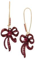 Betsey Johnson In Love Bow Drop Earrings