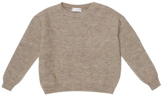 BRUNELLO CUCINELLI KIDS Mohair and wool-blend sweater