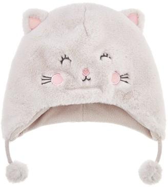 Accessorize Girls Fluffy Cat Chullo Hat - Multi