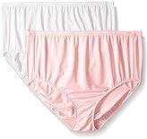 Ellen Tracy Women's Microfiber Full Brief Panty