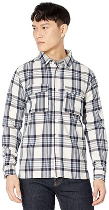 NATIVE YOUTH Greyson Check Overshirt (Blue) Men's Clothing