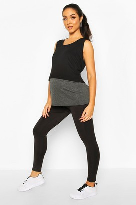 boohoo Maternity Over The Bump Activewear Legging