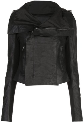 Rick Owens fitted biker jacket