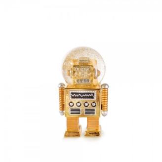 Donkey Products - Gold Robot Snow Globe
