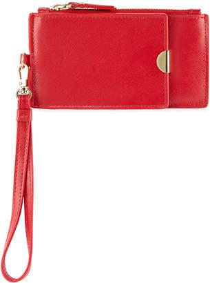 Neiman Marcus Slim Leather Bifold Zip wallet