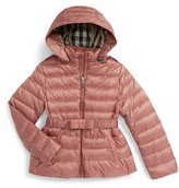 Burberry Girl's Janie Hooded Down Jacket