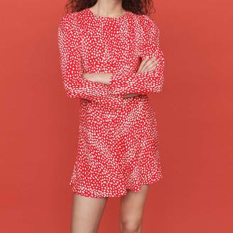 Maje Jacquard-printed gathered dress