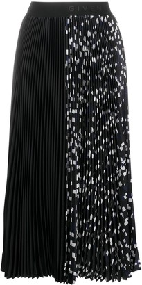 Givenchy Pleated Logo Waistband Skirt